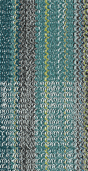 Close view of FLOR Be Cool carpet tile in Teal.
