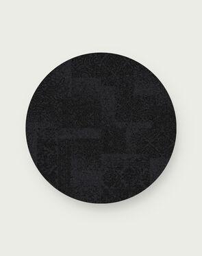 Antique Minx Round Rug - Black - 3.25 Diameter