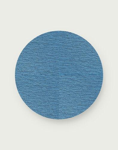 Made You Look Round Rug - Aquamarine - 3.25 Diameter