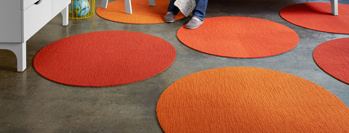 Made You Look Round Rug - Orange - 3.25 Diameter