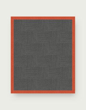 Suit Yourself Quarter Border - Granite / Tangerine - 9x11