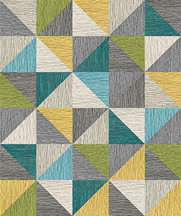 Made You Look 8 Triangle Patchwork -Kiwi
