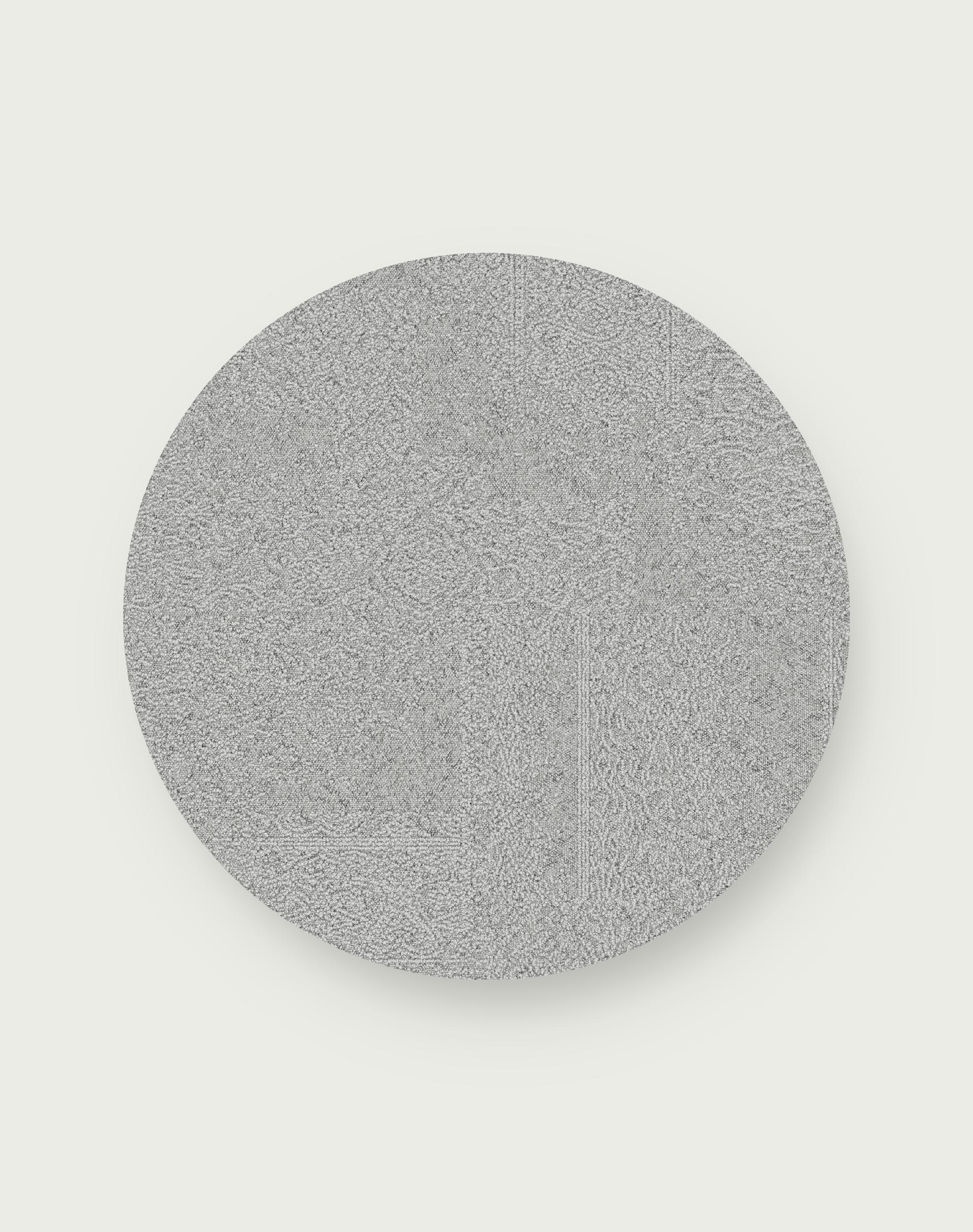 Antique Minx Round Rug - Frost - 3.25 Diameter
