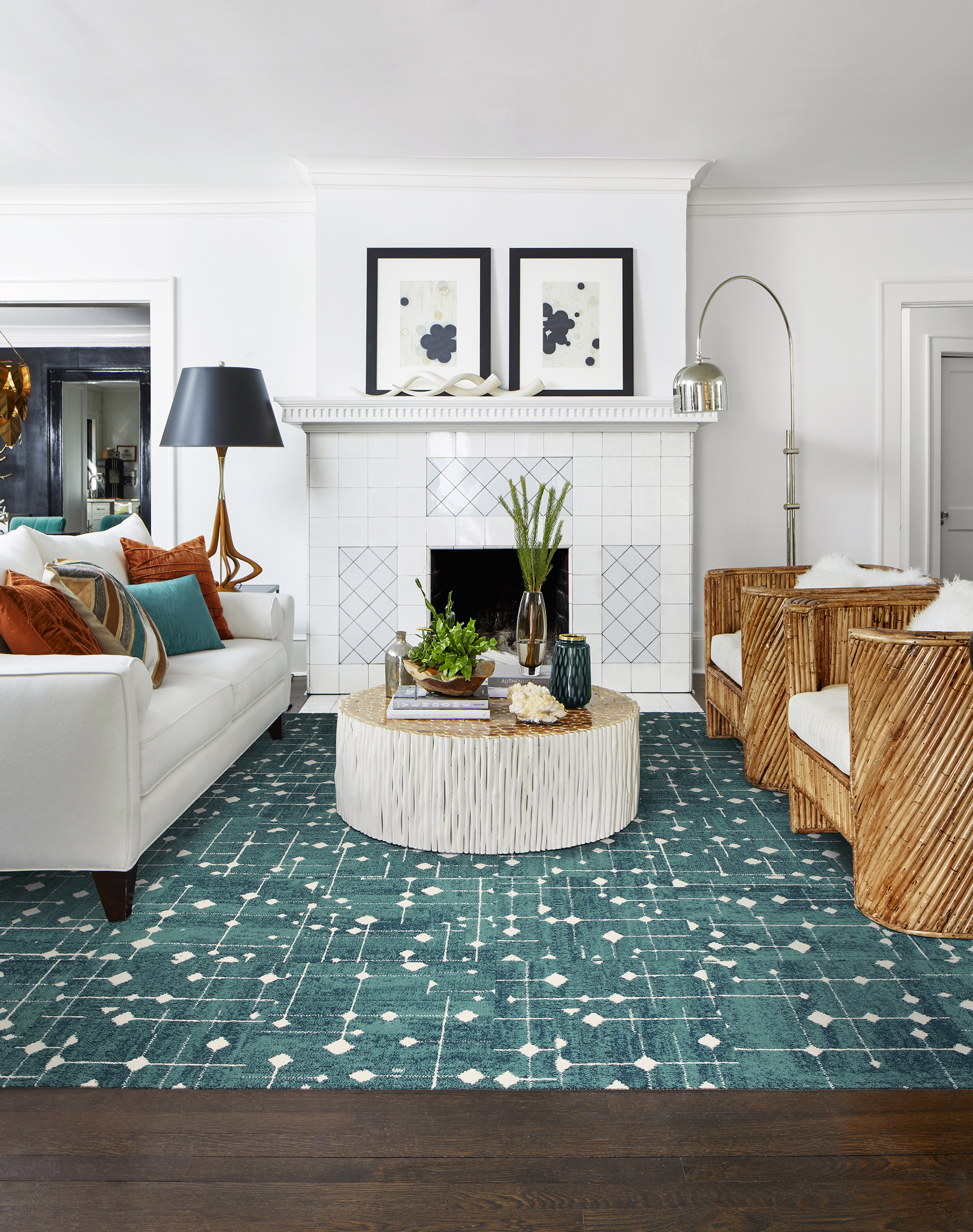 Hollin Hills Teal All Area Rugs Carpet Tiles By Flor