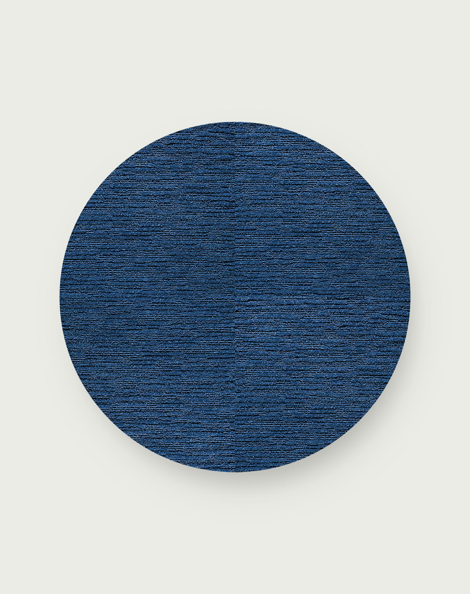 Made You Look Round Rug - Cobalt - 3.25 Diameter
