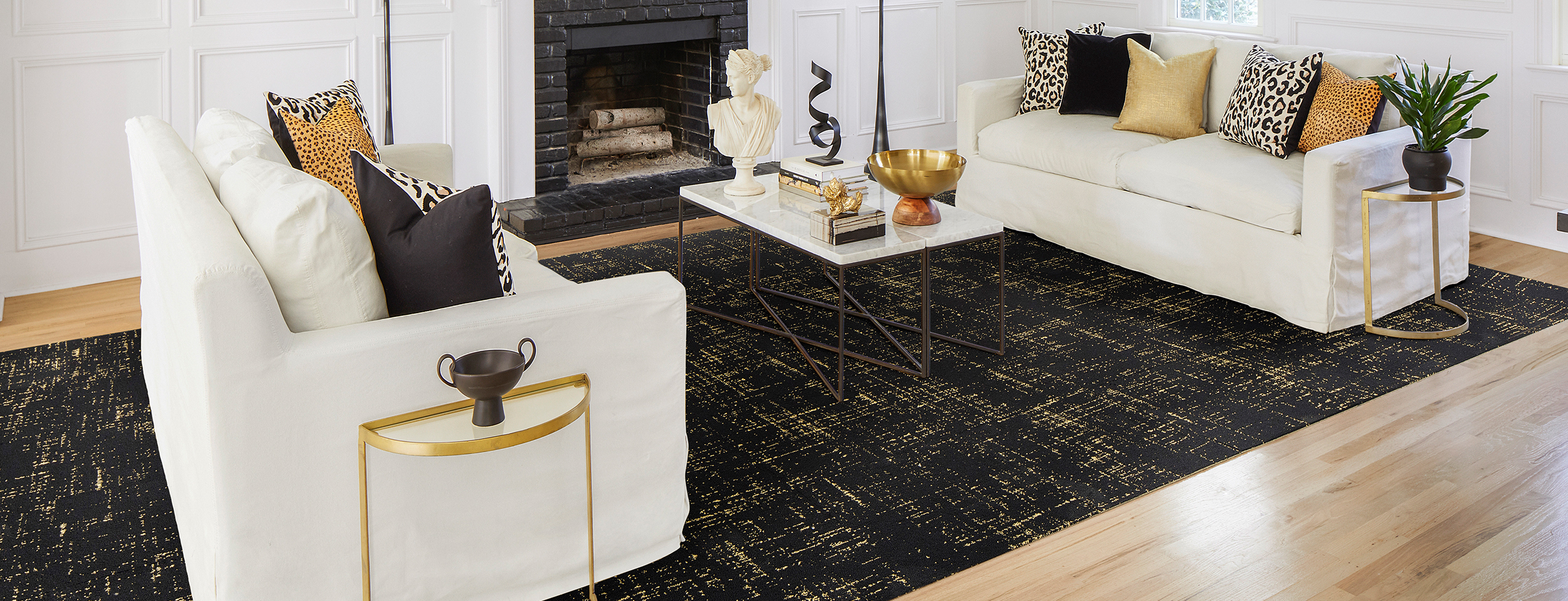 Tuxedo Pocket Black Gold All Area Rugs Carpet Tiles By Flor