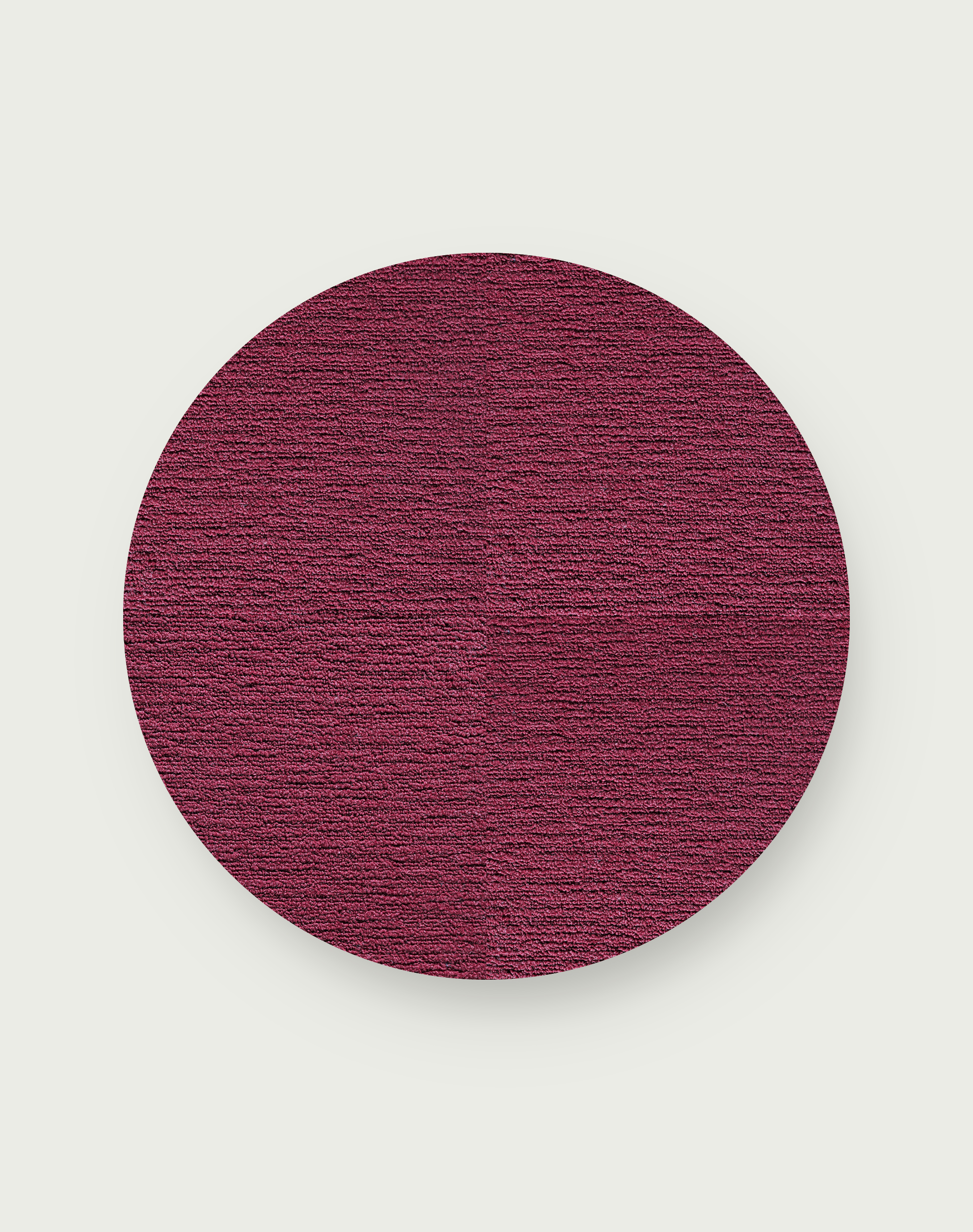 Made You Look Round Rug - Berry - 3.25 Diameter